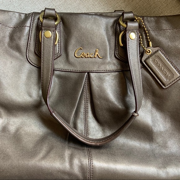 Coach Handbags - Large Authentic COACH bag purse gray